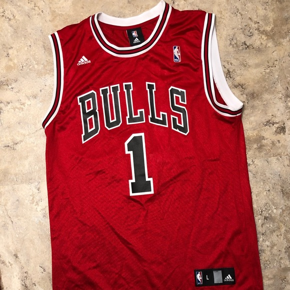 adidas Other - Adidas Chicago Bulls Derrick Rose #1 Red Jersey L